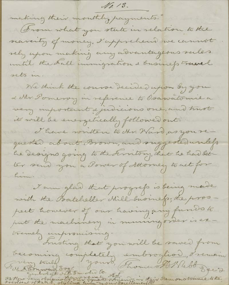 Thomas Hopkins Webb to Martin Franklin Conway - p. 4