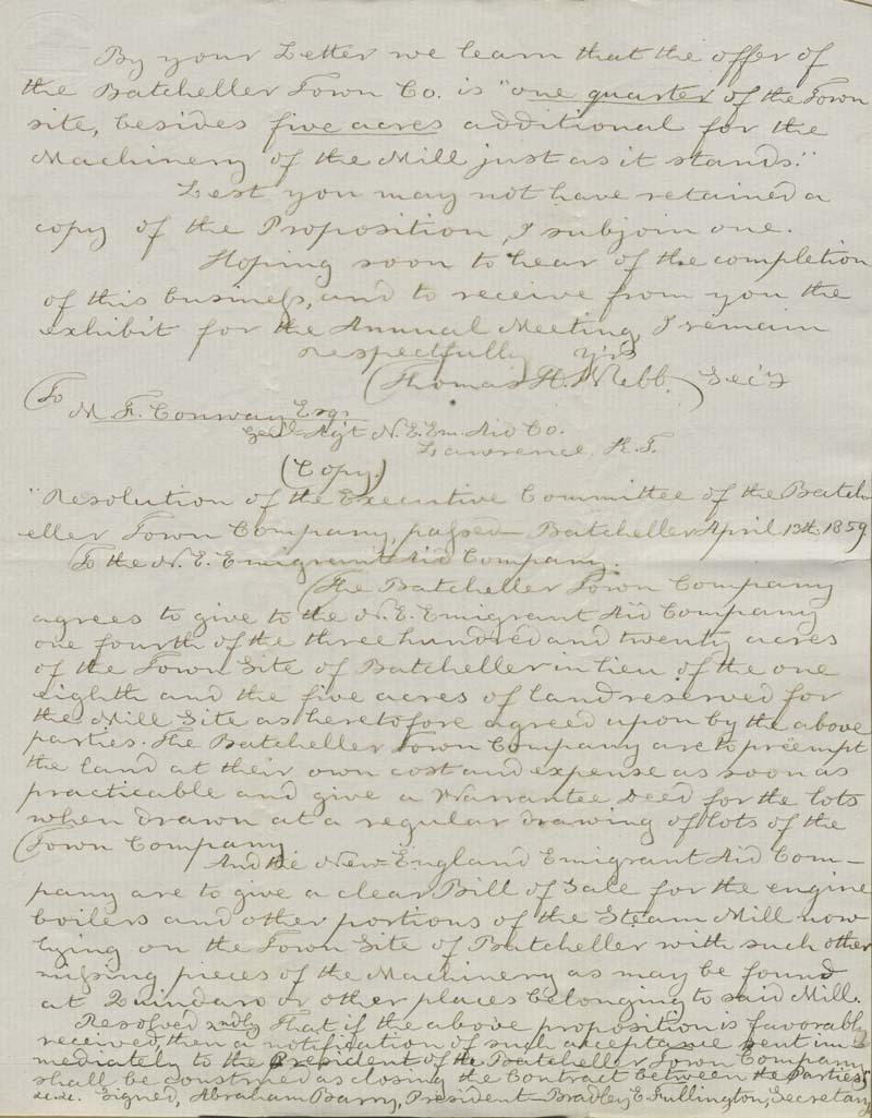 Thomas Hopkins Webb to Martin Franklin Conway - p. 3