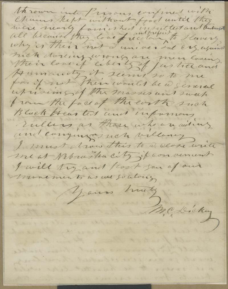 Milton C. Dickey to Thaddeus Hyatt - p. 4