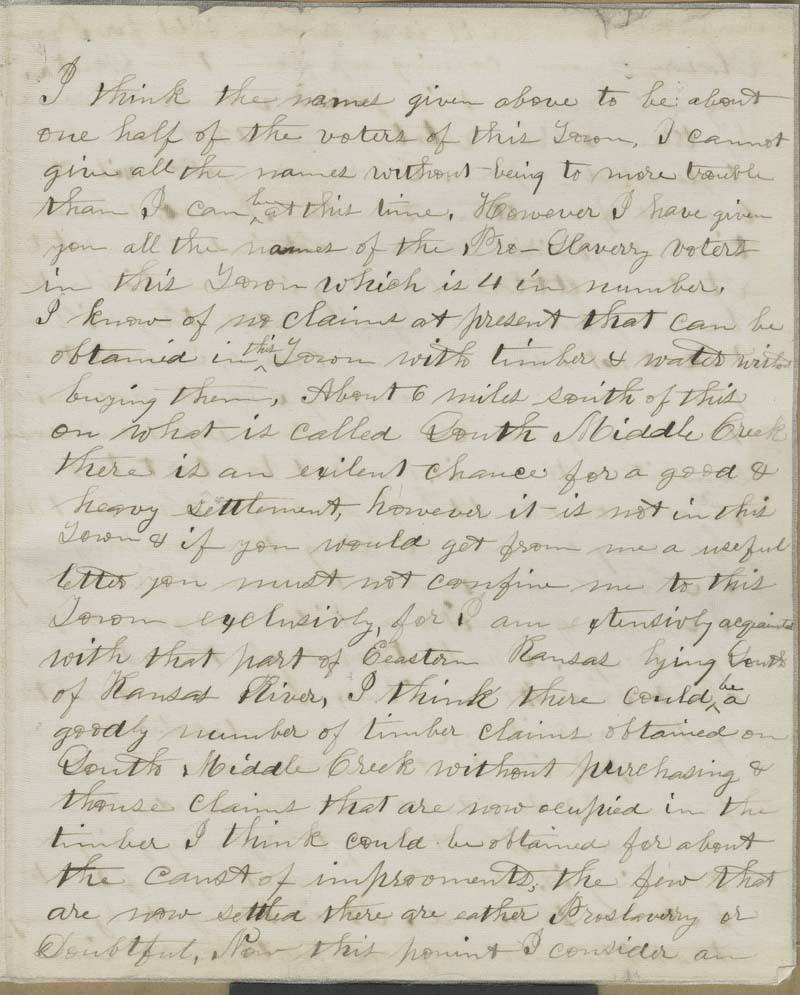A. Finch to Thaddeus Hyatt - p. 3