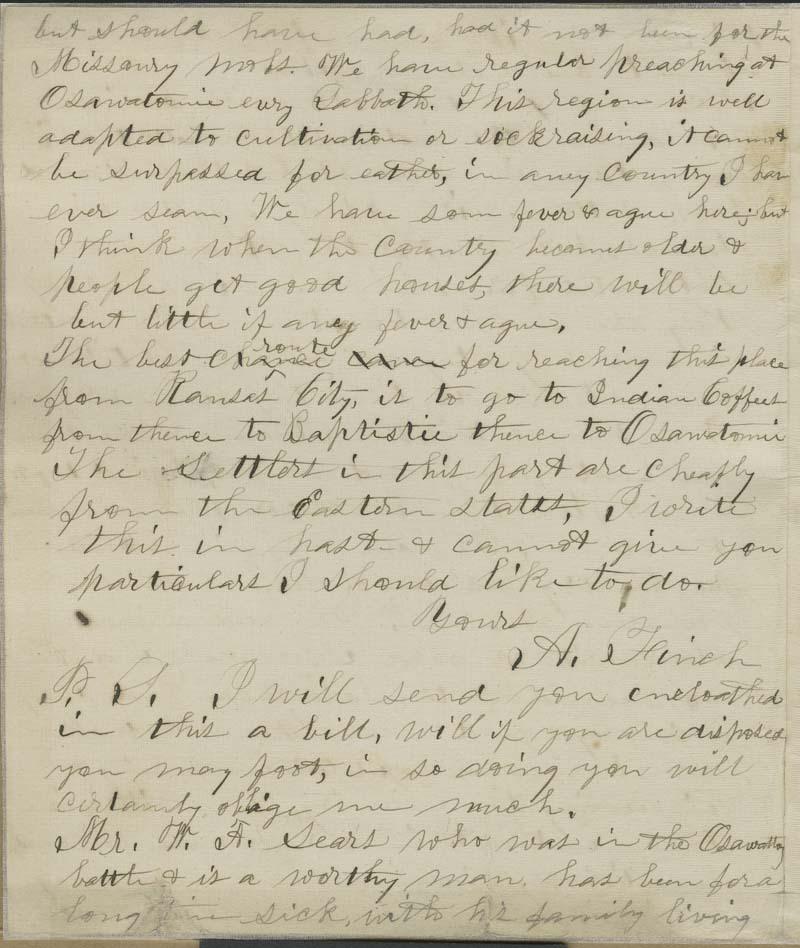 A. Finch to Thaddeus Hyatt - p. 6