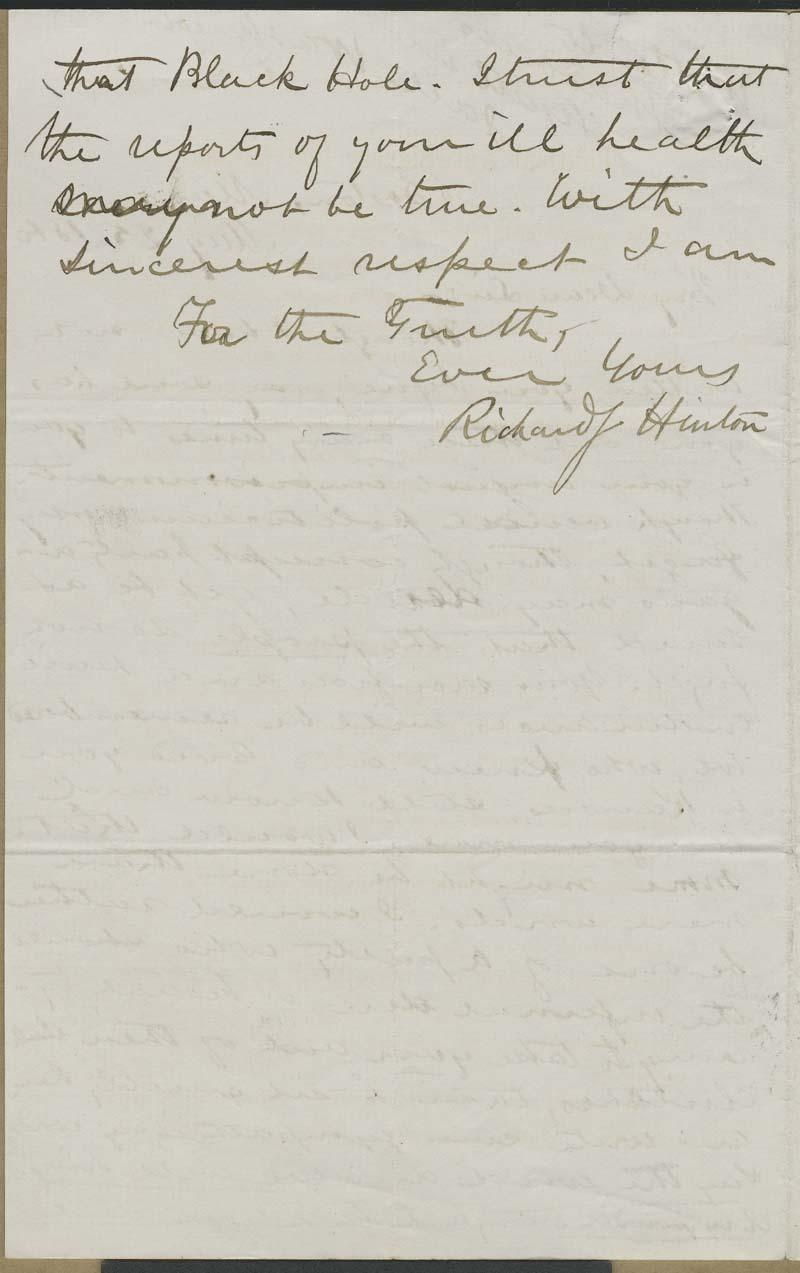 Richard Josiah Hinton to Thaddeus Hyatt - p. 2