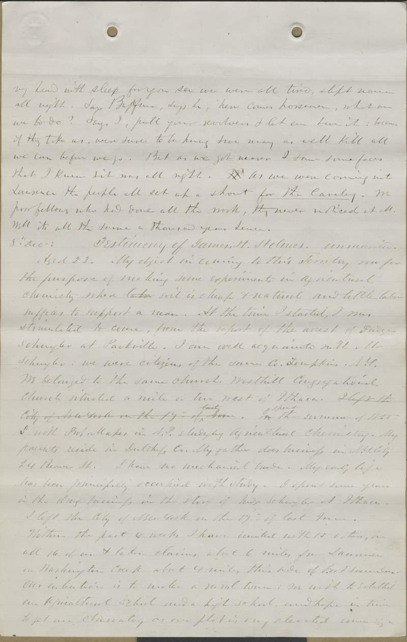 James H. Holmes, testimony - p. 1