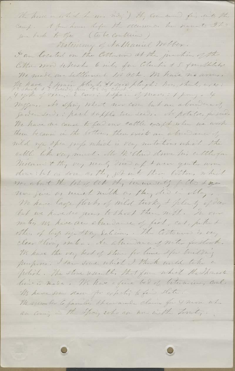 James H. Holmes, testimony - p. 6