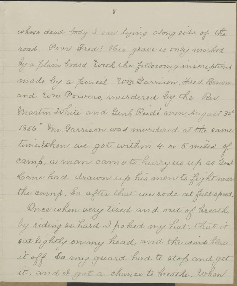Spencer Kellogg Brown, the Battle of Osawatomie - p. 8