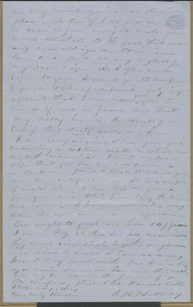 Cyrus Kurtz Holliday to Mary Dillon Holliday - p. 4
