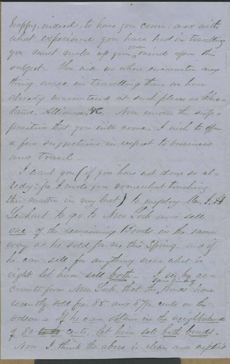 Cyrus Kurtz Holliday to Mary Dillon Holliday - p. 2