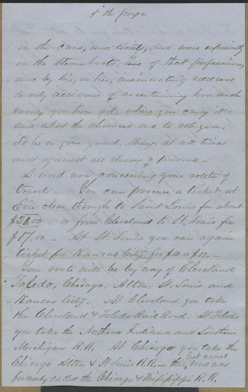 Cyrus Kurtz Holliday to Mary Dillon Holliday - p. 5