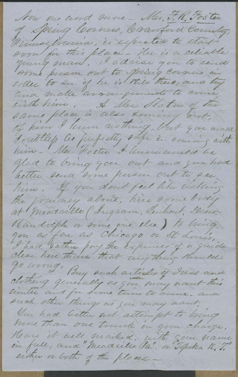Cyrus Kurtz Holliday to Mary Dillon Holliday - p. 8