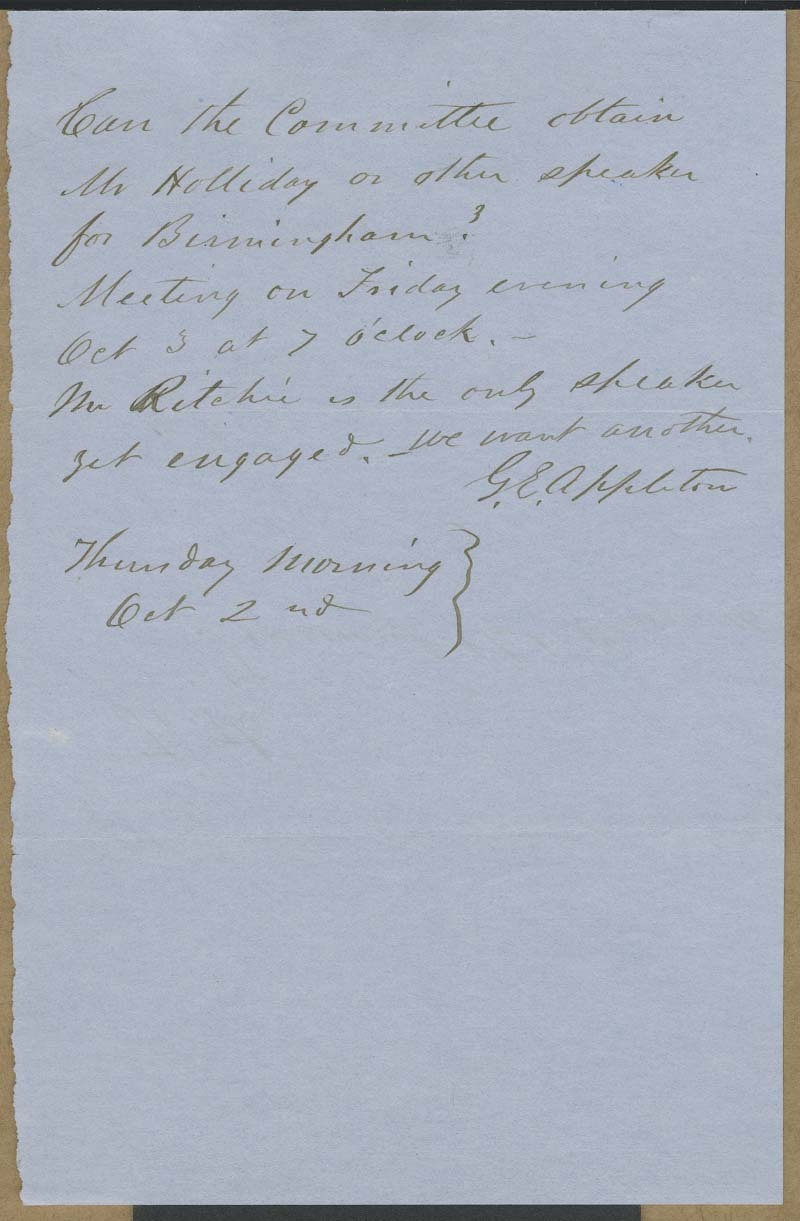Henry Woods to Cyrus Kurtz Holliday - p. 2