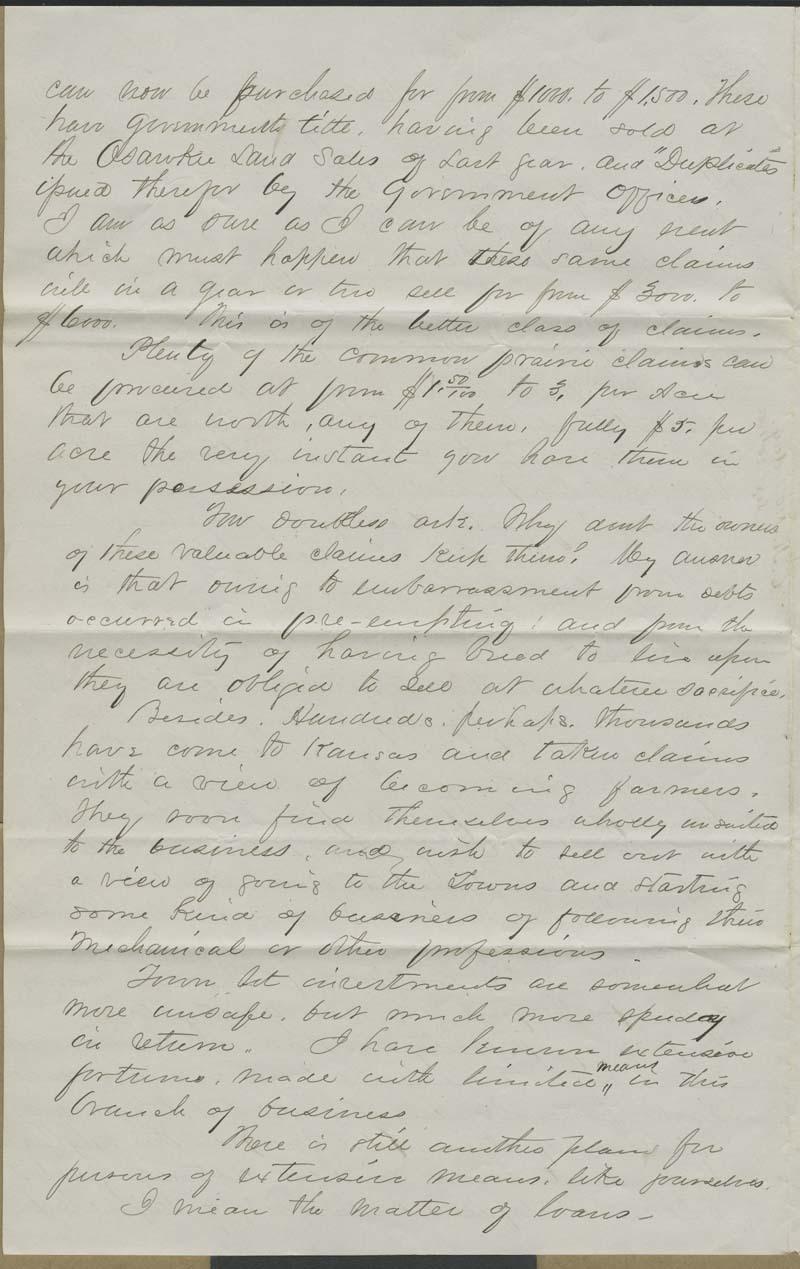 Cyrus Kurtz Holliday to Alfred and Edgar Huidekoper - p. 2
