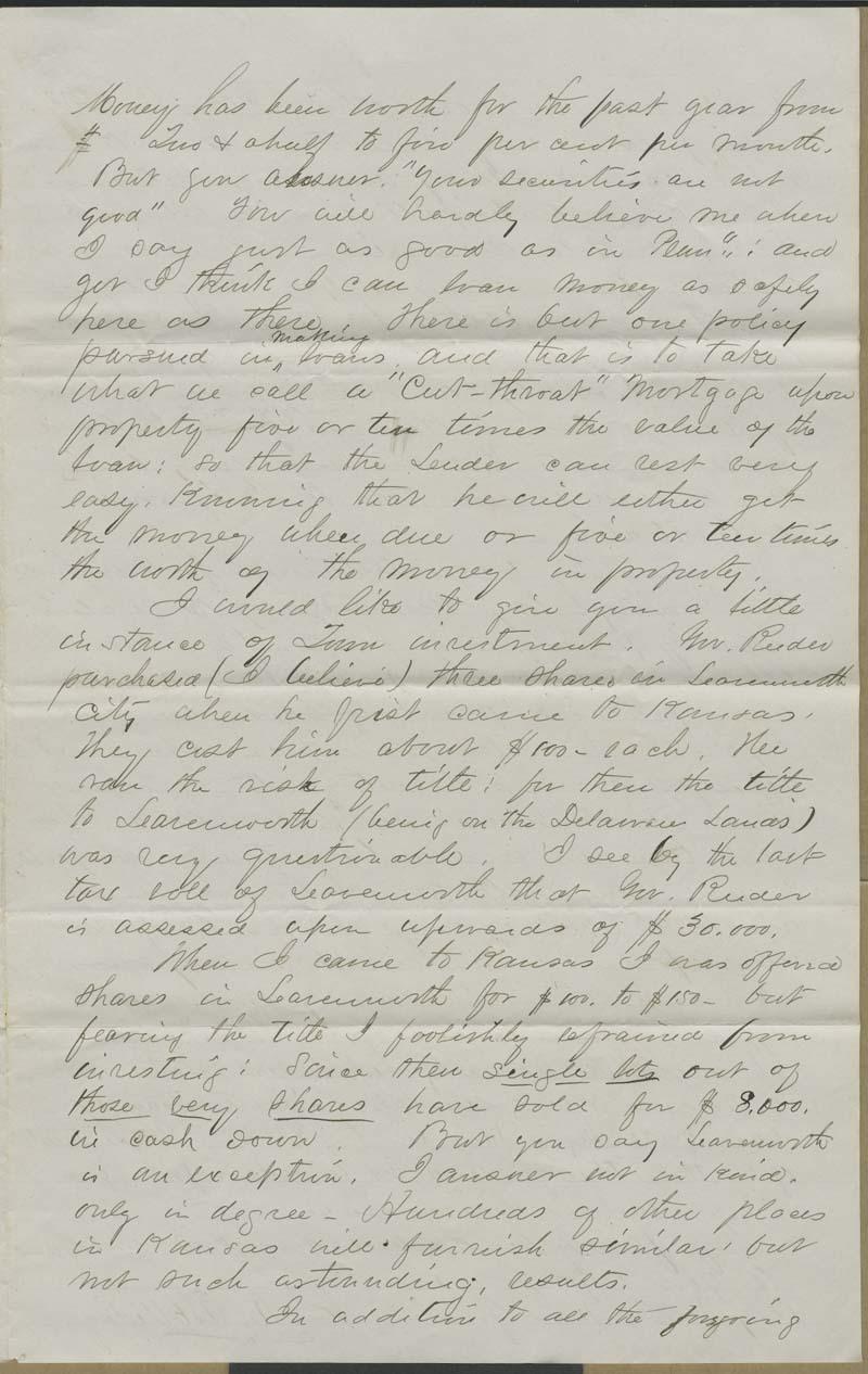 Cyrus Kurtz Holliday to Alfred and Edgar Huidekoper - p. 3