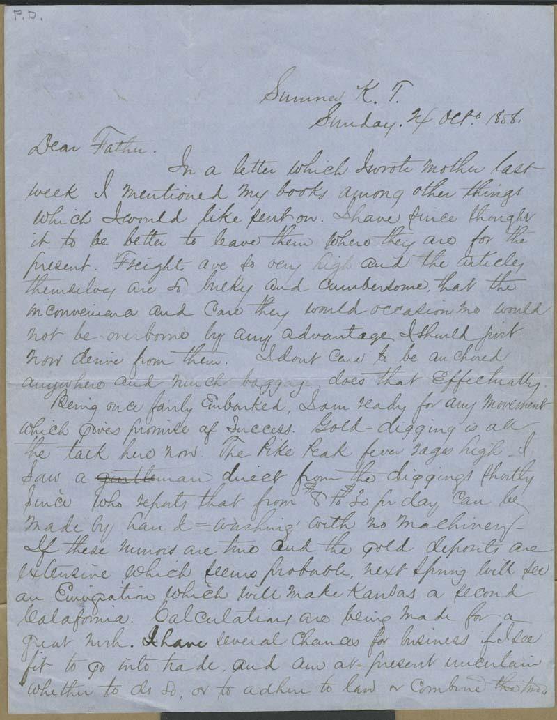 John James Ingalls to Elias T. Ingalls - p. 1