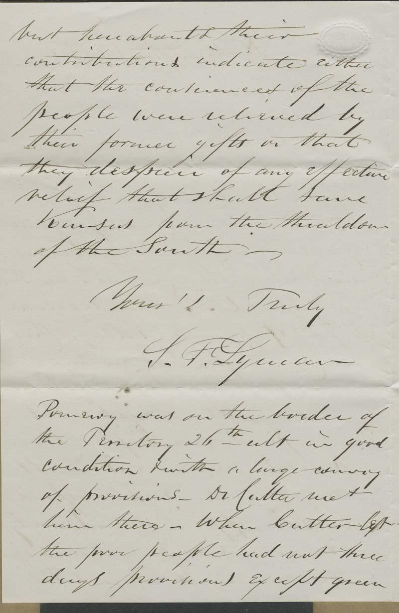 Samuel F. Lyman to Hiram Hill - p. 2