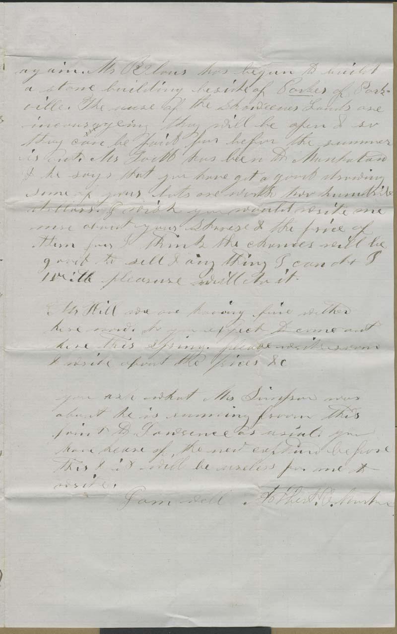 Albert C. Morton to Hiram Hill - p. 3