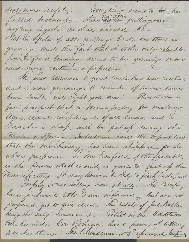 Charles Chadwick to Hiram Hill - p. 2