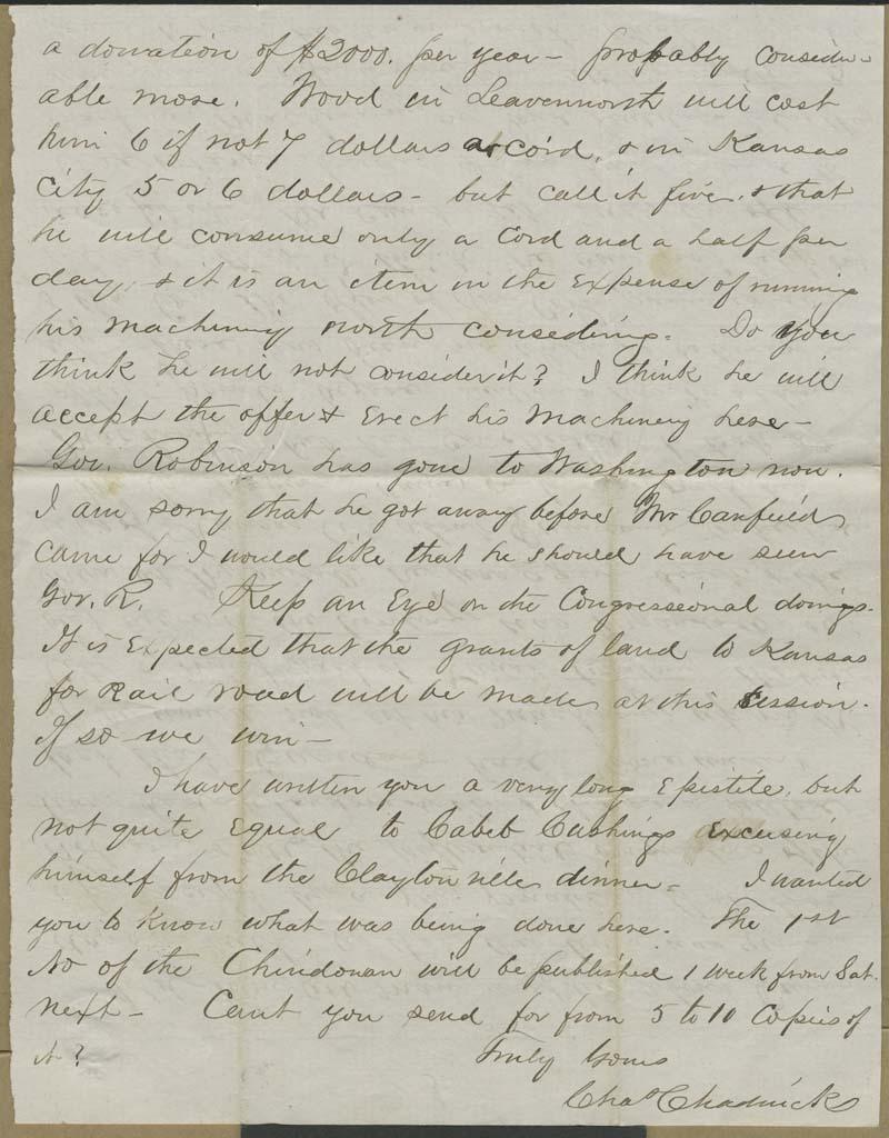 Charles Chadwick to Hiram Hill - p. 10
