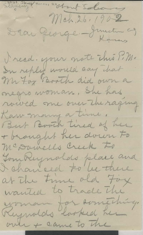 W. H. Mackey to George - p. 1