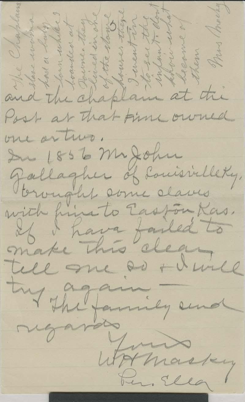 W. H. Mackey to George - p. 5