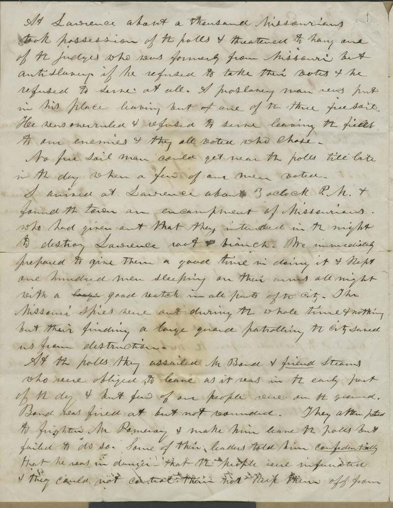 Charles Robinson to Eli Thayer - p. 2