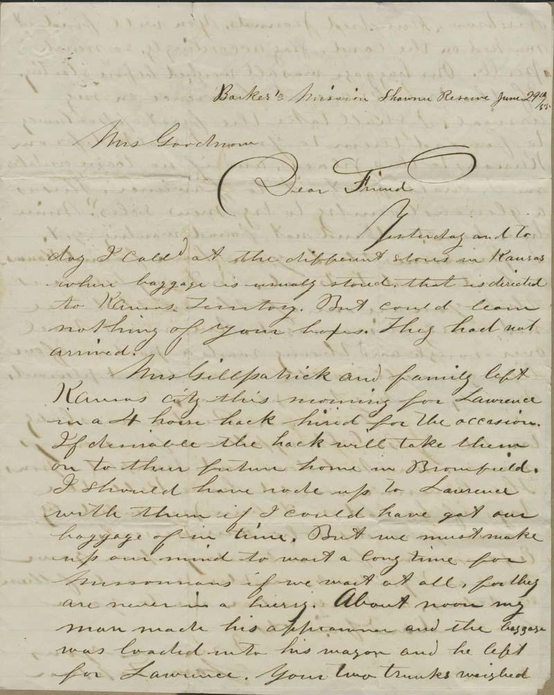 Samuel Tappan to Ellen Douglas Denison Goodnow - p. 1
