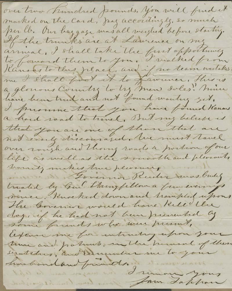 Samuel Tappan to Ellen Douglas Denison Goodnow - p. 2