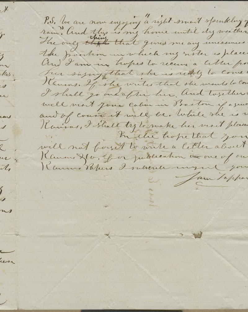 Samuel Tappan to Ellen Douglas Denison Goodnow - p. 3