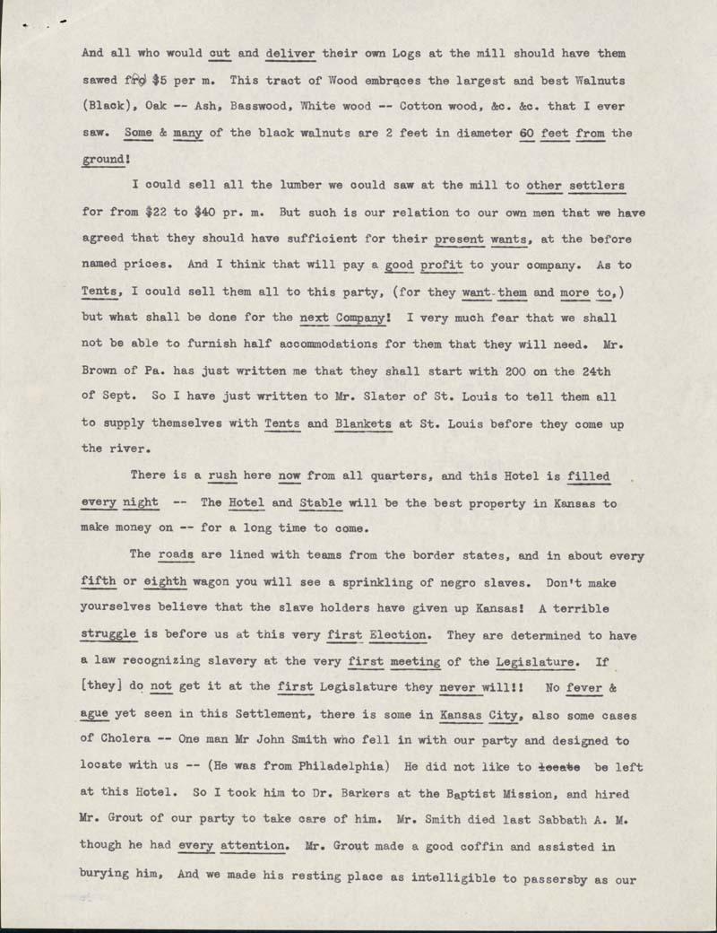 Samuel Clarke Pomeroy to Amos Adams Lawrence - p. 2