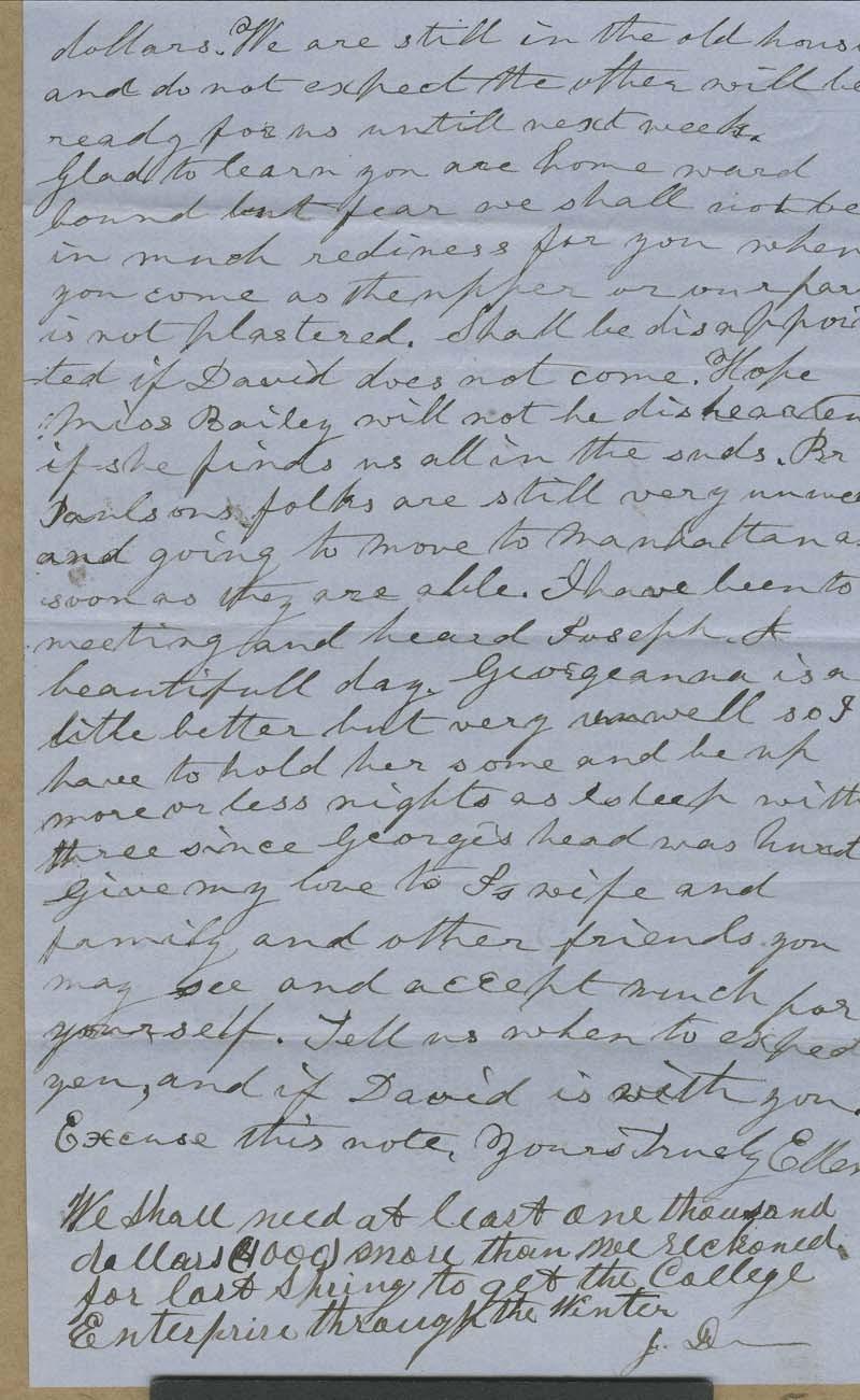 Ellen Douglas Denison Goodnow to Isaac Tichenor Goodnow - p. 2