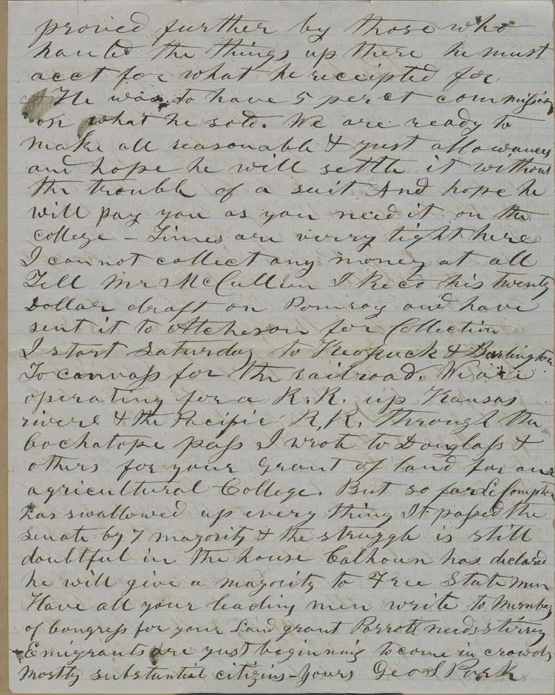 George S. Park to Isaac Tichenor Goodnow - p. 2