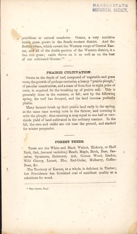 George Walter, History of Kanzas - p. 7