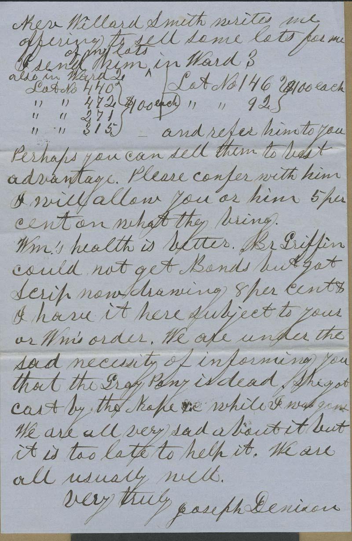 Joseph Denison to Isaac Tichenor Goodnow - p. 4