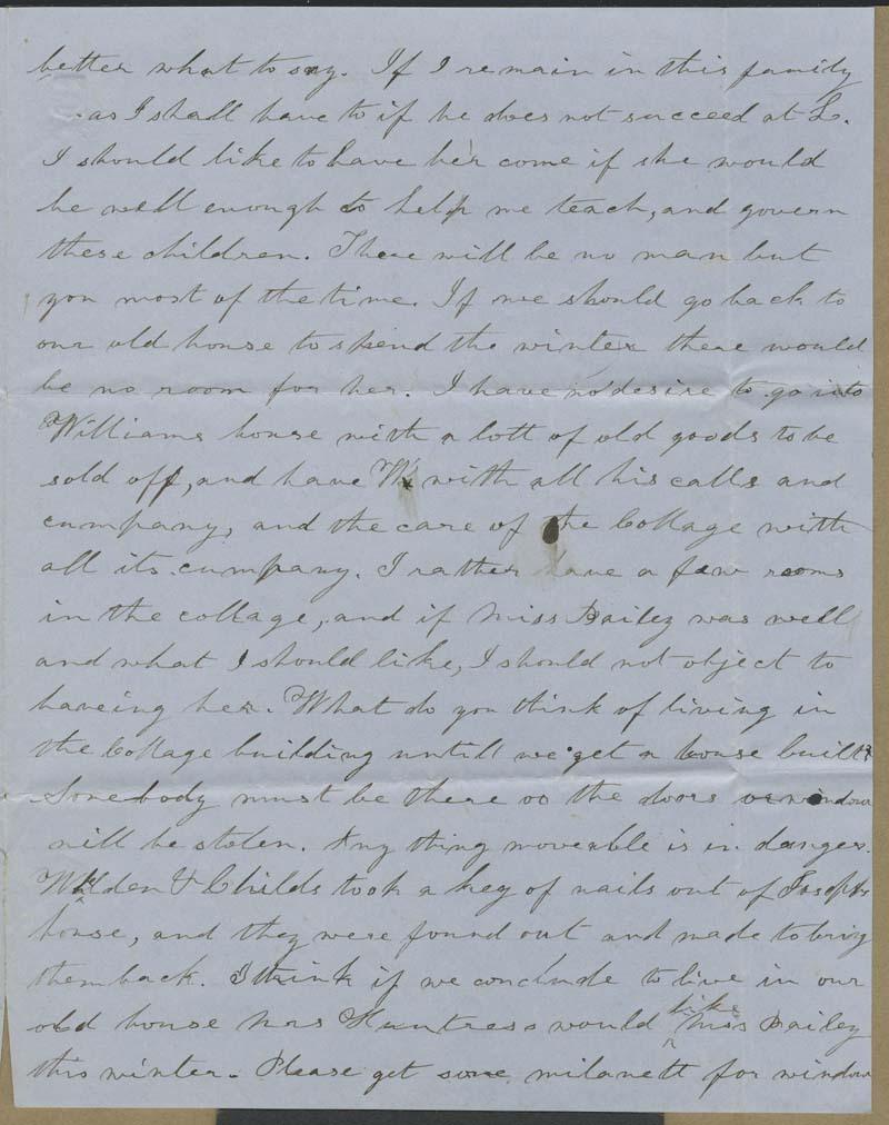 Ellen Douglas Denison Goodnow  to Isaac Tichenor Goodnow - p. 3