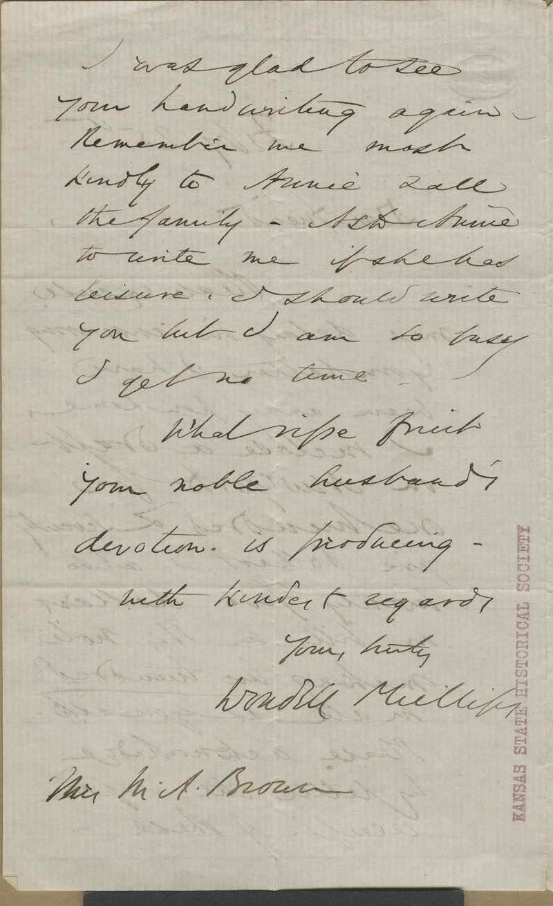 Wendell Phillips to Mary Brown - p. 2