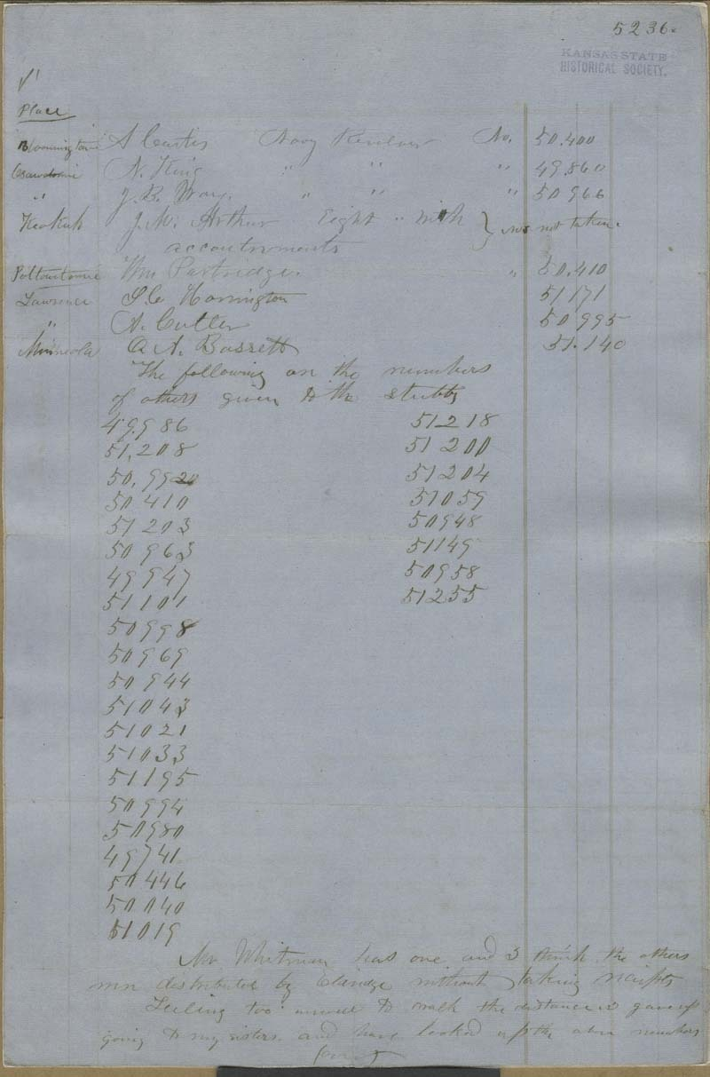William Hutchinson to John Brown? - p. 1