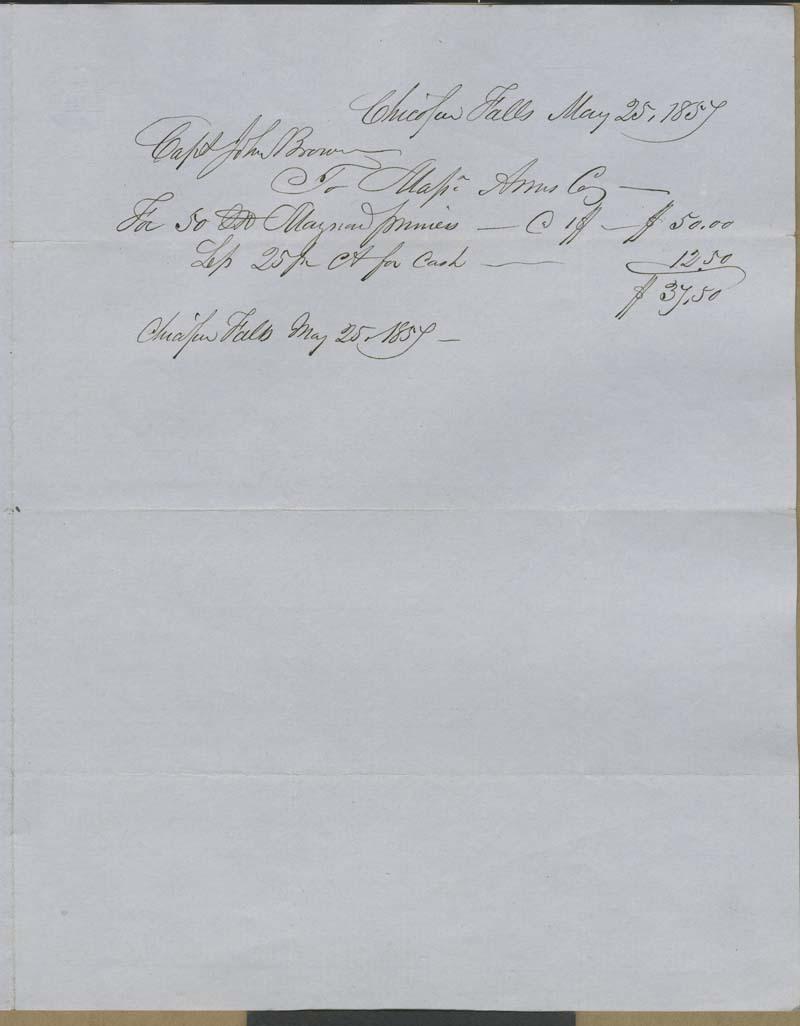 T.W. Carter to John Brown - p. 2