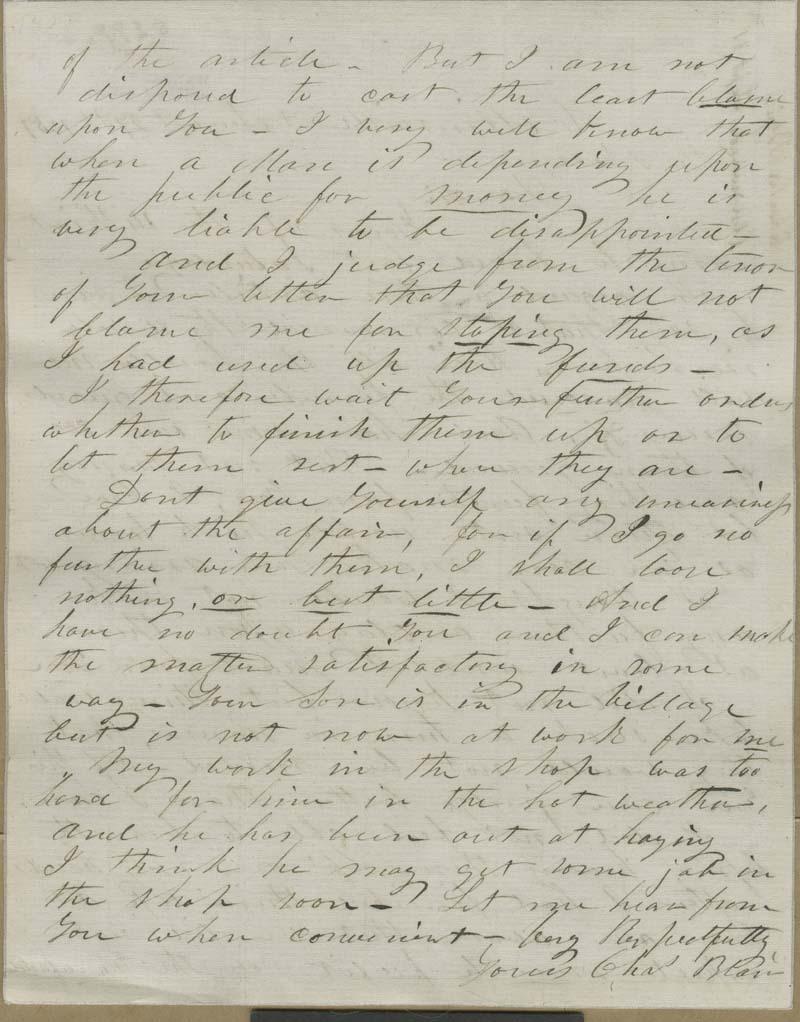 Charles Blair to John Brown? - p. 2