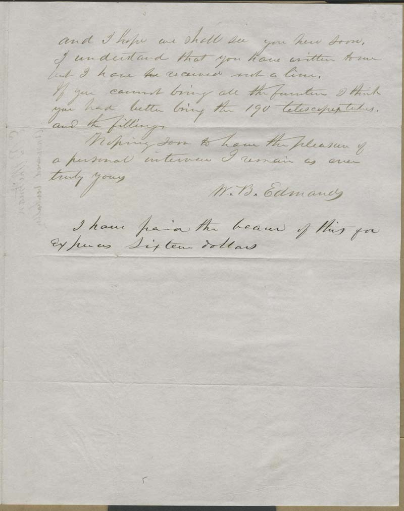 W. B. Edmonds [E. B. Whitman?] to Hawkins [John Brown] - p. 3