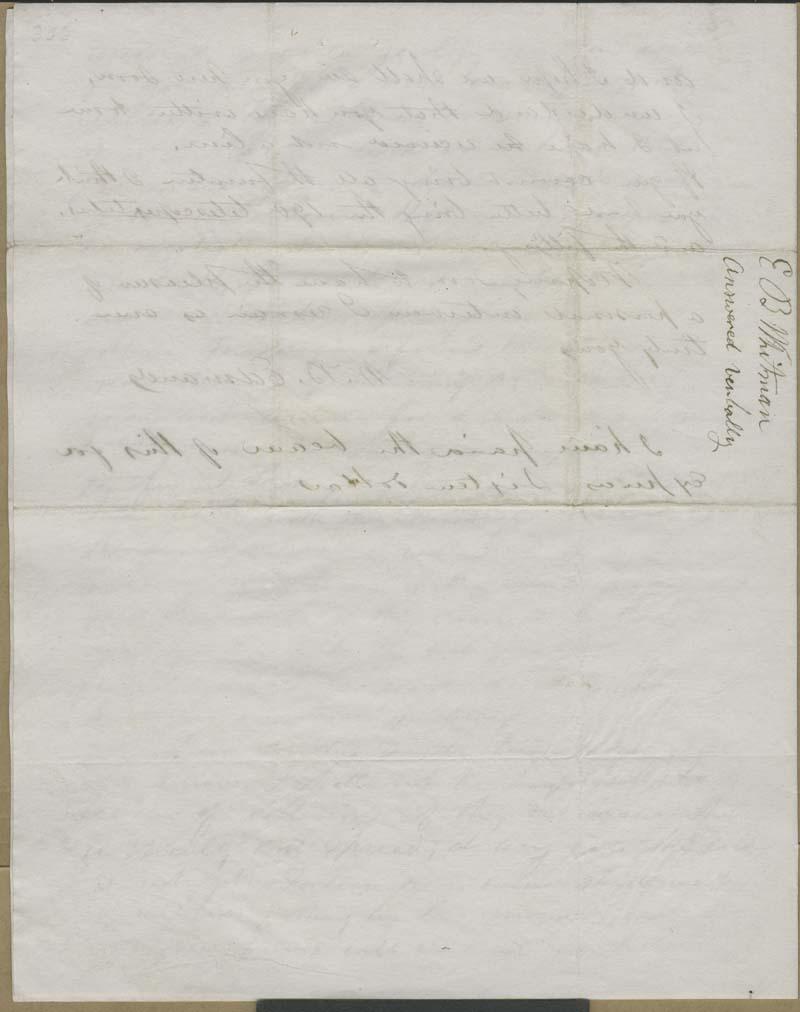 W. B. Edmonds [E. B. Whitman?] to Hawkins [John Brown] - p. 4