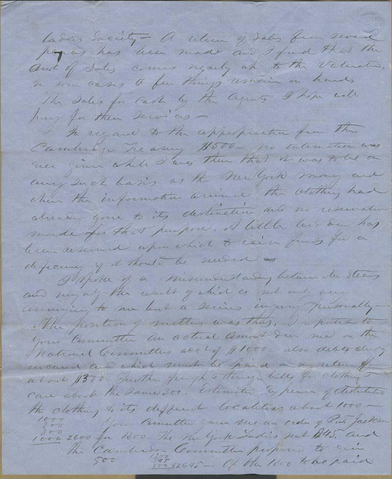 Edmund Burke Whitman to Franklin B. Sanborn - p. 8