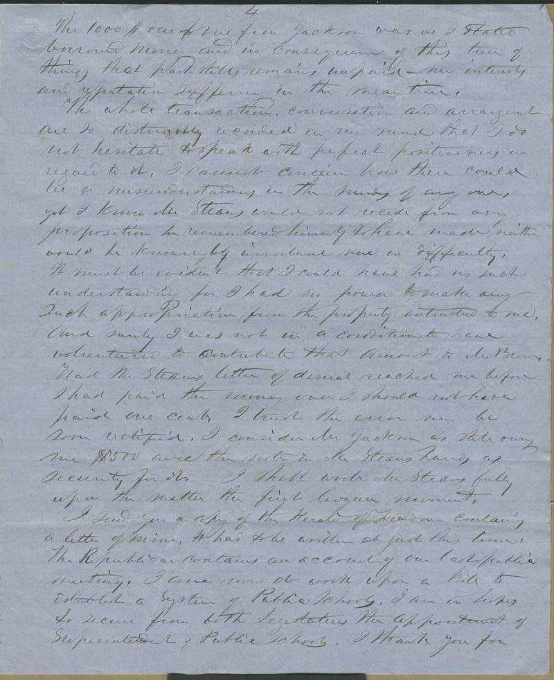 Edmund Burke Whitman to Franklin B. Sanborn - p. 11