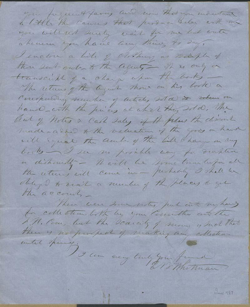 Edmund Burke Whitman to Franklin B. Sanborn - p. 12