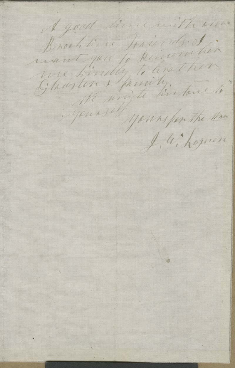 Circular Letter, Underground Rail Road Depot, To the Friends of the Fugitives from Slavery - p. 2