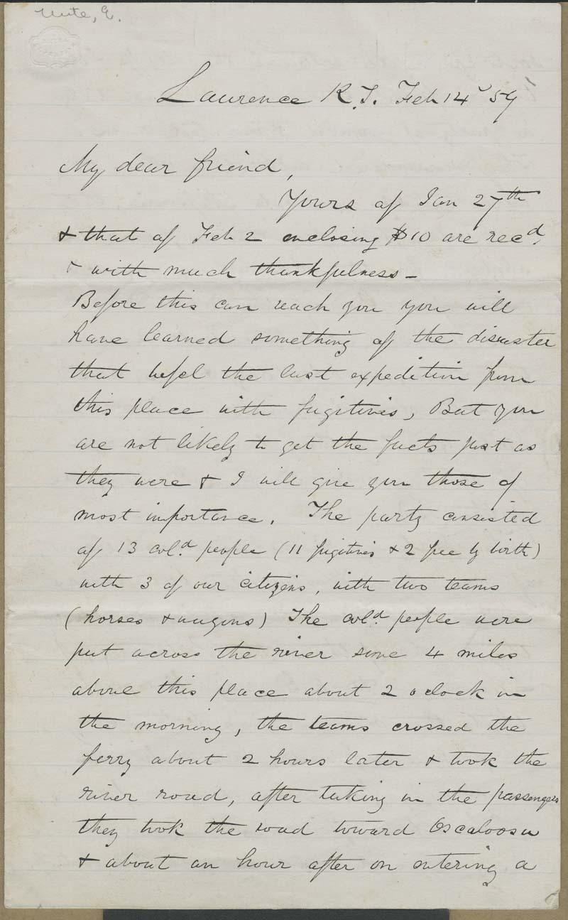 Ephraim Nute to [Unidentified recipient] - p. 1
