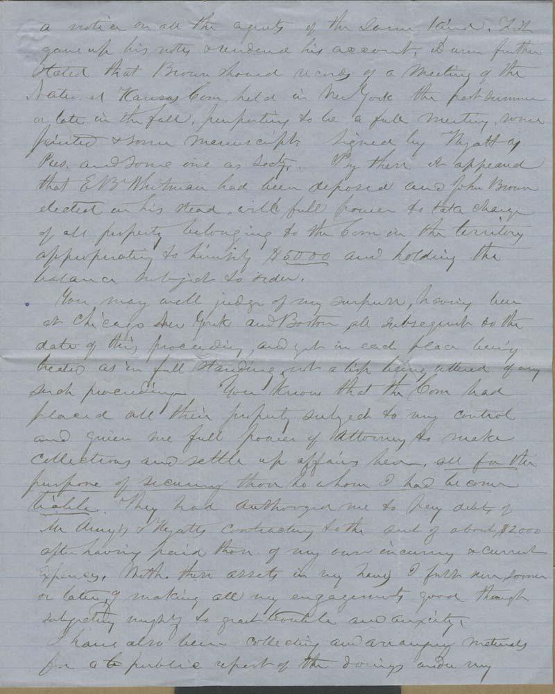 Edmund Burke Whitman to Franklin B. Sanborn - p. 3