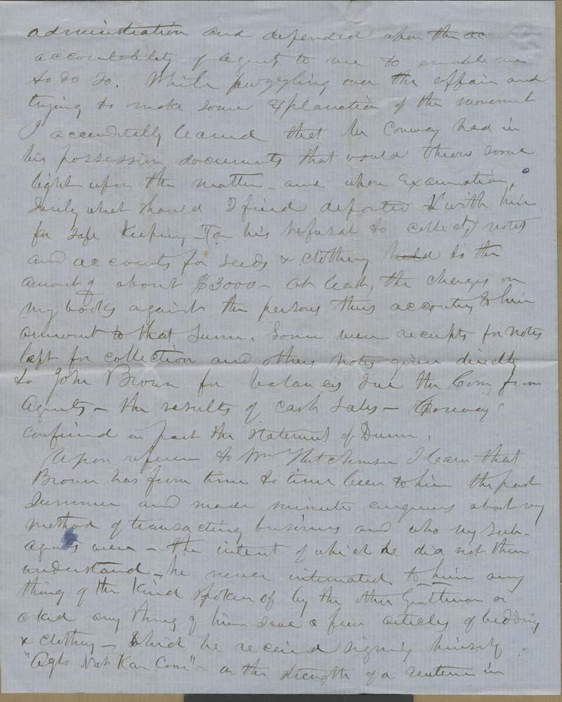 Edmund Burke Whitman to Franklin B. Sanborn - p. 4