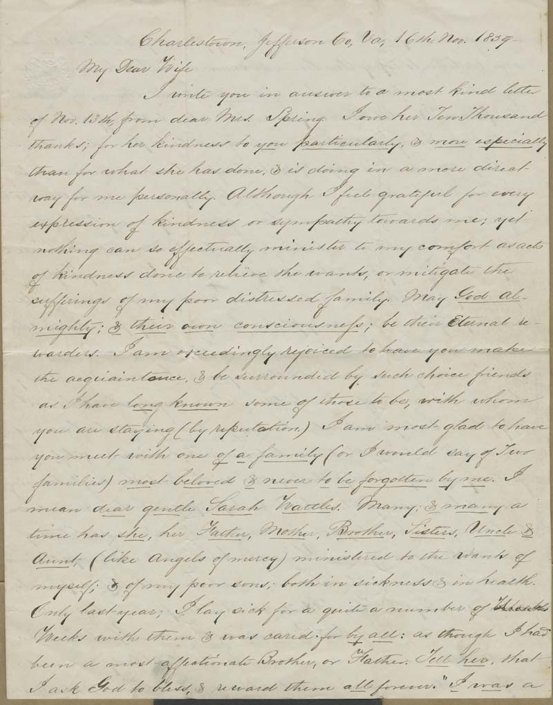 John Brown to Mary Brown - p. 1
