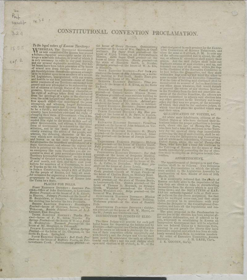 Constitutional Convention Proclamation