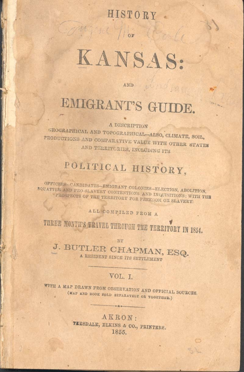 History of Kansas and emigrant's guide - p. 1