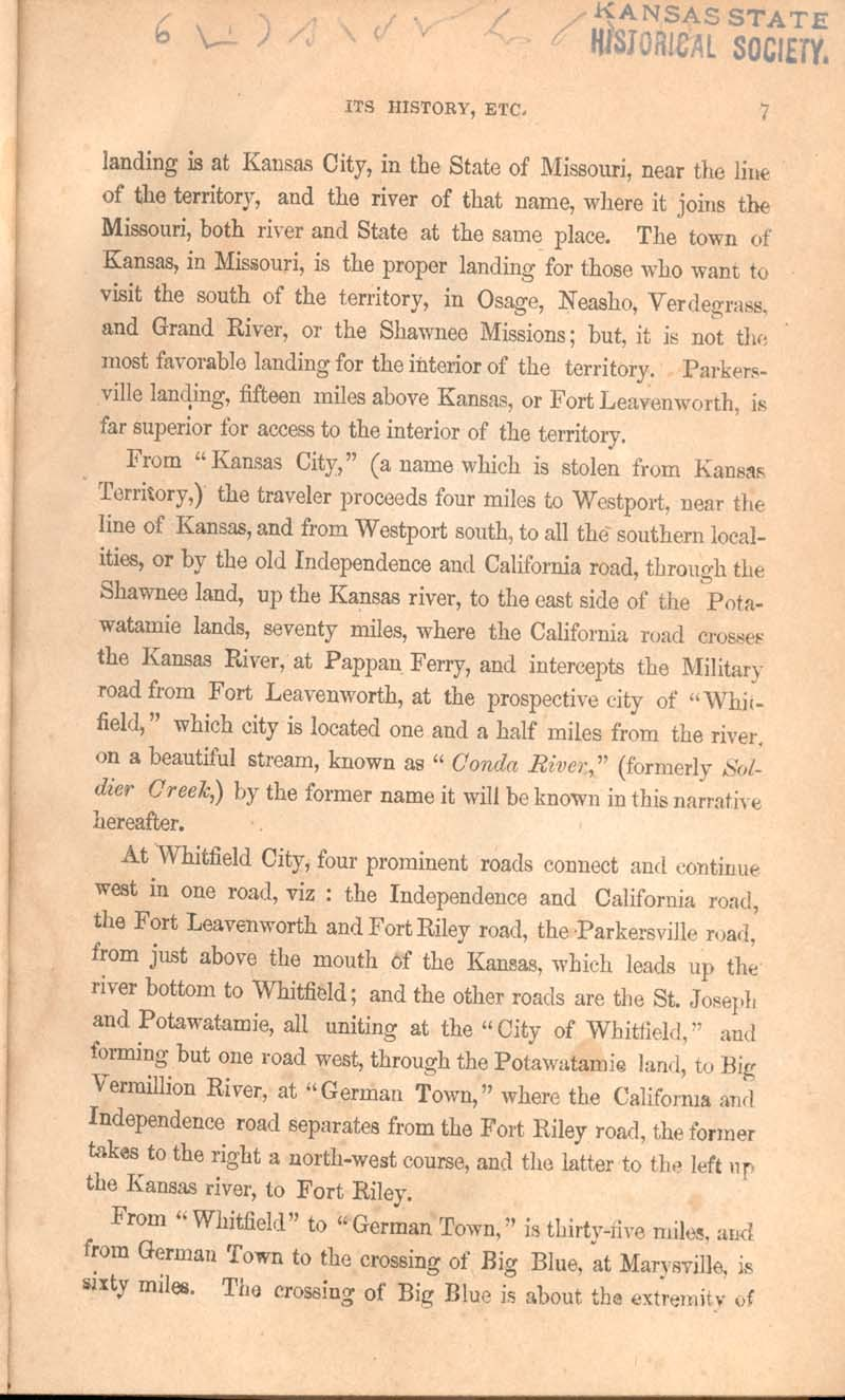 History of Kansas and emigrant's guide - p. 7